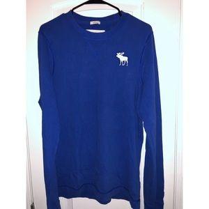 [Lightly Worn] Abercrombie Royal Blue Long Sleeve
